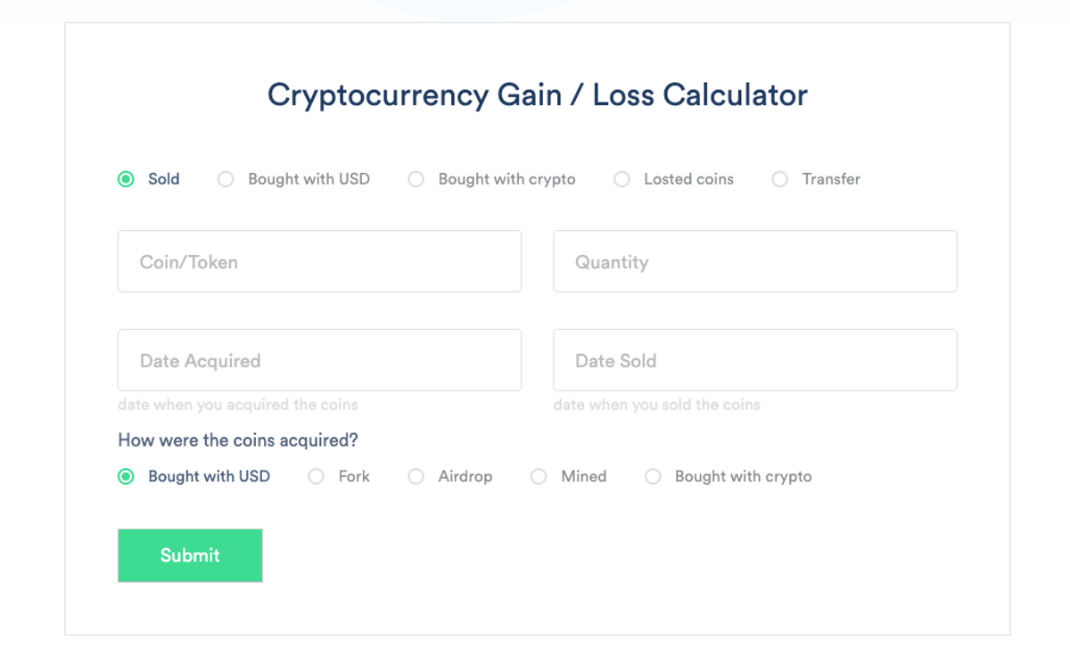 taxes when you sell cryptocurrency losses